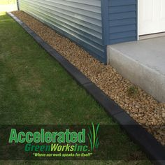 Flat-top curb edging is generally more of a request in the commercial realm...although it can be a unique twist in a narrow landscaping bed!