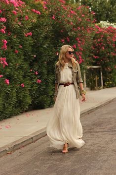 Dress: ADAM Shoes: Zara Jacket: Gap Belt: Jcrew. Sunglasses: Karen Walker. Jewels: Hermes, Jcrew, David Yurman, Pomellato.
