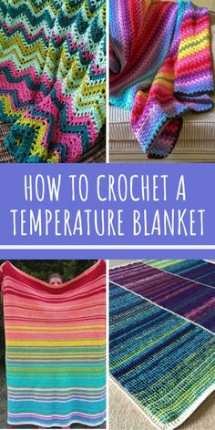 Crochet Afghans Ideas How to Crochet a Temperature Blanket - Make a one of a kind keepsake with a temperature blanket crochet pattern. Unique ideas for you to try - including baby blankets and a wrap! Crochet Afghans, Baby Blanket Crochet, Crochet Stitches, Crochet Baby, Crochet Patterns, Crochet Ideas, Crochet Beanie, Knit Or Crochet, Crochet Crafts