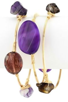 Zalia Bangle Set -Purple