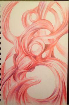 """Bliss"" ...Ball point pen drawing.    16cm x 25cm by Ligia M. S. Ciotau"
