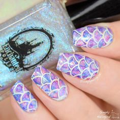 Iridescent Watercolour Mermaid Nails by @simplynailogical *heart eyes for days*