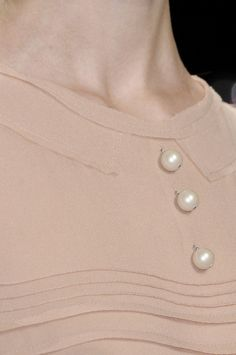 #pearl buttons.  women blouse #2dayslook #blouse fashion  www.2dayslook.com
