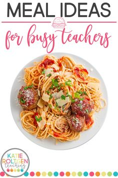 Busy Teachers, Easy Food To Make, Meal Ideas, Spaghetti, Easy Meals, Ethnic Recipes, Easy Dinners, Noodle, Simple Meals