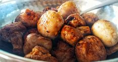 Easy air fried garlic mushrooms When you are in the presence of greatness (mushrooms) you don't post many words.  So here is the recipe ...