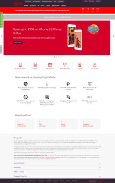 Virgin Media homepage with countdown timer banner #Web #Digital #Marketing #Technology