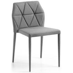 Favolosa sedia completamente realizzata in ecopelle bianca o beige o in tessuto verde mela o grigio chiaro.