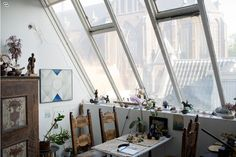 我們看到了。我們是生活@家。: 荷蘭藝術家Gisèle位在Amsterdam的公寓也是她的工作室