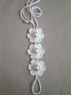 Bridal White Flower Barefoot Sandals Crochet by SirikHandmade