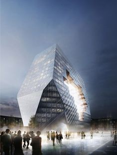 Büro Ole Scheeren wins joint first prize in competition  for new Axel Springer media headquarters in Berlin