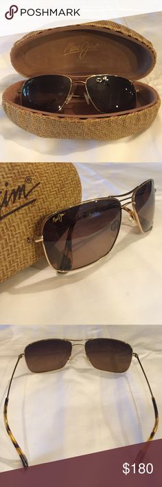 "Maui Jim Titanium ""Wiki Wiki"" Sunglasses Titanium Maui Jim polarized Womens aviators. Extremely lightweight, durable sunglasses. Comes with original hard case. Maui Jim Accessories Sunglasses"