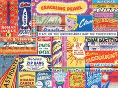 Vintage fireworks typography!  What a fabulous smack in the face!