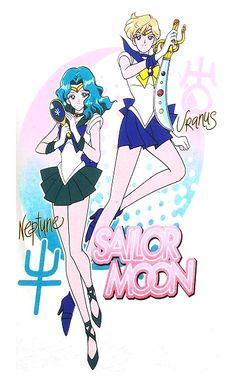 new sailor moon image featuring sailor uranus and neptune http://www.moonkitty.net