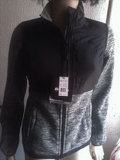 Snozu Performance Fleece Gray/Black Zip Front Jacket M $75 #Snozu #FleeceJacket