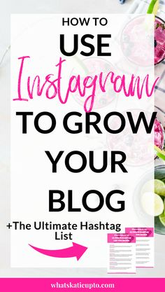 How to use instagram to grow your Blog