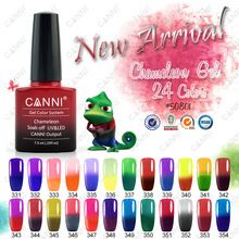 50801X CANNI Chameleon Gel Plish New Arrival Hot Sale 7.3ml 0.25oz Cheap Wholesale Color Changing Nail Polish Thermo Gel