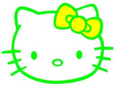 Green Hello Kitty with a yellow bow.  :)