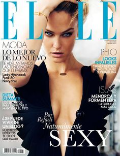 Hair & Make Up realizado por Mónica Roldán para la portada Elle España agosto 2013.
