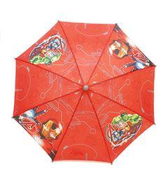 Marvel Los Vengadores paraguas, rojo - http://comprarparaguas.com/baratos/marvel/marvel-los-vengadores-paraguas-rojo/