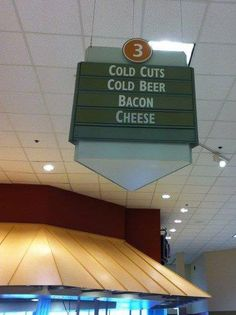 Favorite Supermarket Overhead Isle Sign