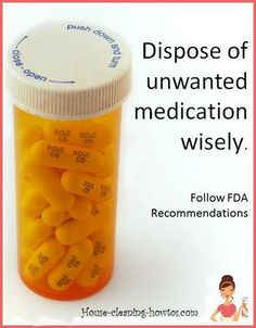 Unused Drug Disposal - Follow FDA recommendations for safe medication disposal. Keep your water and body clean.