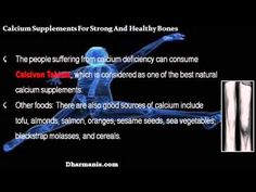 This video describes about the best ayurvedic calcium supplements for strong and healthy bones. You can find more detail about Calcivon tablets at http://www.dharmanis.com