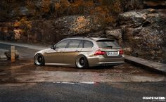 BMW E91 3 series Touring bronze deep dish slammed
