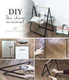 [ DIY ] Détournez un cadre et un plateau en table de chevet.