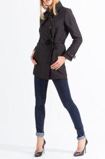 Trench-coat<BR>Preto