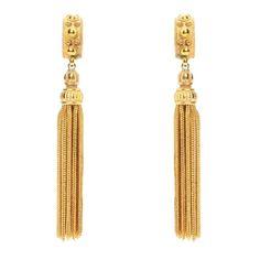 Gold Tassel Earring by Ben Amun