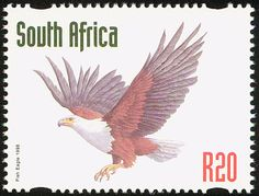 African Fish Eagle stamps - mainly images - gallery format