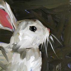 """white rabbit"" original fine art by Angela Moulton"