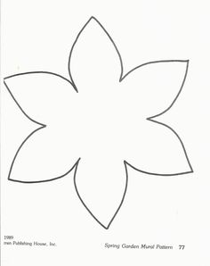 Printable flower template - could be used to craft daffodils. Felt Flowers, Spring Flowers, Fabric Flowers, Paper Flowers, Daffodil Craft, Daffodil Day, Preschool Crafts, Easter Crafts, Crafts For Kids