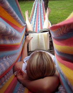 Cozy hammock- when you're longing for a nice summer reading day