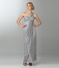Blondie Nites Draped One-Shoulder Dress | Dillards.com