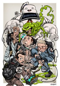 THE GHOSTBUSTERS PRINT by Clog Two