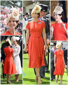 15 June 2016 - Crown Princess Mary at Royal Ascot - dress (recycling) by Marc Jacobs, shoes by Gianvito Rossi, pochette by Naledi Copenhagen Crown Princess Mary, Prince And Princess, Cute Dress Outfits, Cute Dresses, Ascot Dresses, Mary Donaldson, Princess Marie Of Denmark, Princess Kate Middleton, Danish Royalty
