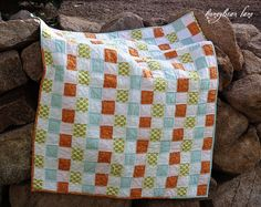 Easy and fast way to create a quilt with a NO-SEW top.  Simply weave strips of fabric like a basket and quilt!