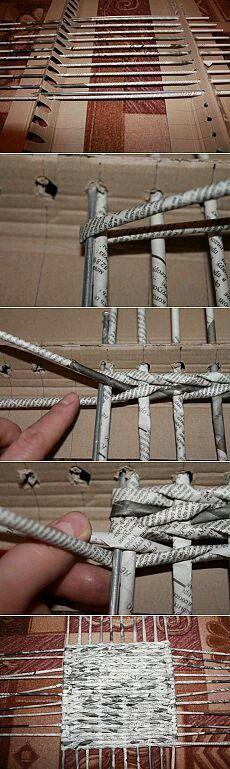 Плетение из газет. Фото и видео мастер-классы.