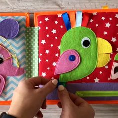 Pikabook My first book, Quiet book for babies, Busy book - Sewing projects - Baby Diy