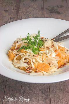 Orangen-Fenchel-Salat mit Pinienkernen