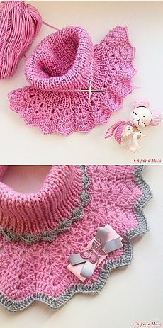 Find and save knitting and crochet schemas, simple recipes, and other ideas collected with love. Crochet Scarves, Crochet Shawl, Crochet Clothes, Crochet Stitches, Knit Crochet, Knitting Patterns Free, Knit Patterns, Baby Knitting, Crochet For Kids