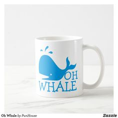 Oh Whale @zazzle #zazzle #coffee #coffeemug #mugs #mug #morning #breakfast #homedecor #kitchen #home #decor #buy #shop #shopping #gift #gifts #Products #accessories #accessory #office #work #job #employee #fun #cup #whale #ohwhale #fish #sea #ocean #funny #lol #blue #bigfish