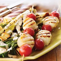 Scallop and Cherry Tomato Skewers