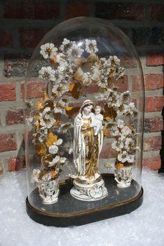 Exclusive French19thc GLOBE De MARIEE Marriage dome  vieux paris porcelain Mary