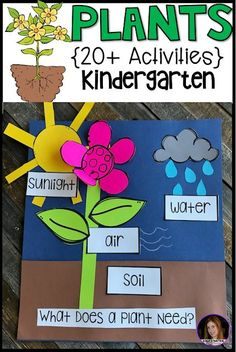Plant Activities, Writing Crafts, Science Lessons and Centers for Kindergarten (. - Plant Activities, Writing Crafts, Science Lessons and Centers for Kindergarten – Kindergarten Rocks Resources Kindergarten Rocks, Homeschool Kindergarten, Preschool Science, Science For Kids, Kindergarten Activities, Science Writing, Science Fun, Homeschooling, Summer Science