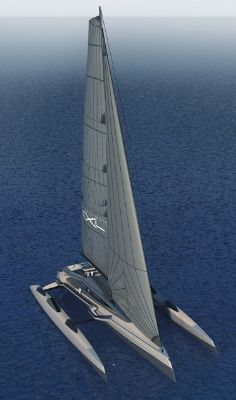 The Ultraluxum CXL 160 metre) carbon-fibre trimaran concept, is a huge, high-tech sailing yacht, the first of this size ever to be built with folding hull… Yacht Design, Boat Design, Luxury Sailing Yachts, Toy Cars For Kids, Private Yacht, Float Your Boat, Love Boat, Yacht Boat, Motor Yacht