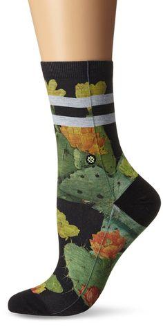 AmazonSmile: Stance Women's Desert Flower Anklet Sock, Black, Medium: Clothing