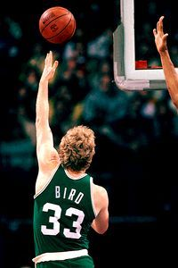 Larry Bird was better with his left hand then most players with their dominant hand. A MASTER at his craft!