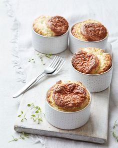 The post Blue cheese and thyme soufflés appeared first on delicious. Thyme Recipes, Apple Recipes, Cheese Recipes, Veggie Recipes, Baked Butternut Squash, Souffle Recipes, Pub Food, Tiny Food, Delicious Magazine